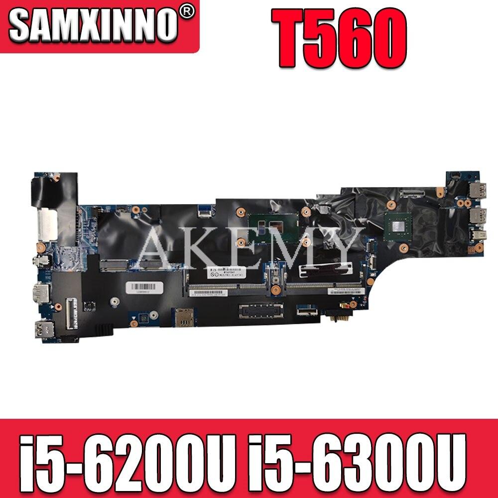 SAMXINNO T560 اللوحة لينوفو ثينك باد T560 W560S P50S Laotop اللوحة الرئيسية مع i5-6200U وحدة المعالجة المركزية i5-6300U 01AY314