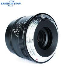 Brightin estrela 35mm F1.7 Grande Abertura Foco Manual Lente fixa mirriorless camera Lens para Fuji FX-mount APS-C câmeras