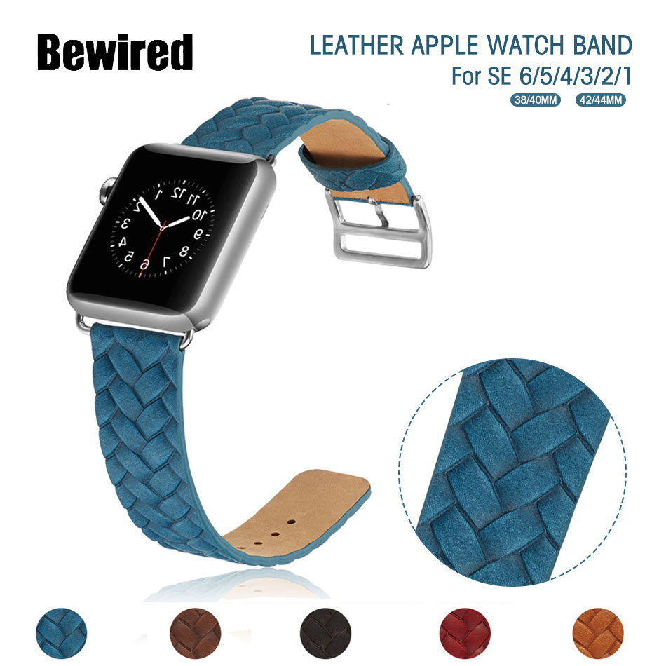 sport watch band for apple watch se 6 5 4 3 2 1 loop band 38mm 42mm for iwatch series 40mm 44mm denim leather bracelet strap Sport Loop Strap For Apple Watch Band 44MM 40MM 38MM 42MM FABRIC Leather Belt Bracelet for iWatch Series SE 6/5/4/3/2/1
