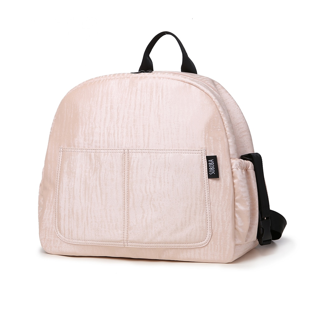 Soboba conjunto de mochilas multifuncionais, conjunto de fraldas rosa impermeável de grande capacidade, bolsa para maternidade para bolsas de fralda mãe