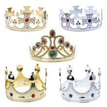 Zabawka korona króla księcia króli trzech królów dzień z okazji urodzin strona dekoracji