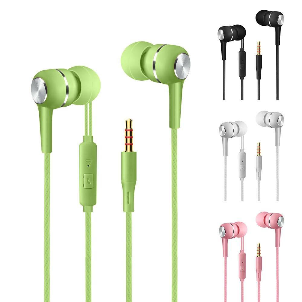 Fone de ouvido intra-auricular universal, fone de ouvido com fio de 3.5mm, hifi, música estéreo, headset para jogos com microfone para huawei, samsung, oppo