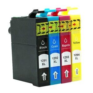 12XL Ink Cartridge for Epson T1291 T1292 T1293 T1294 WorkForce WF-7015 WF-7515 7525 WF 3010DW 3520DWF 3530DTWF 3540DTWF Printer