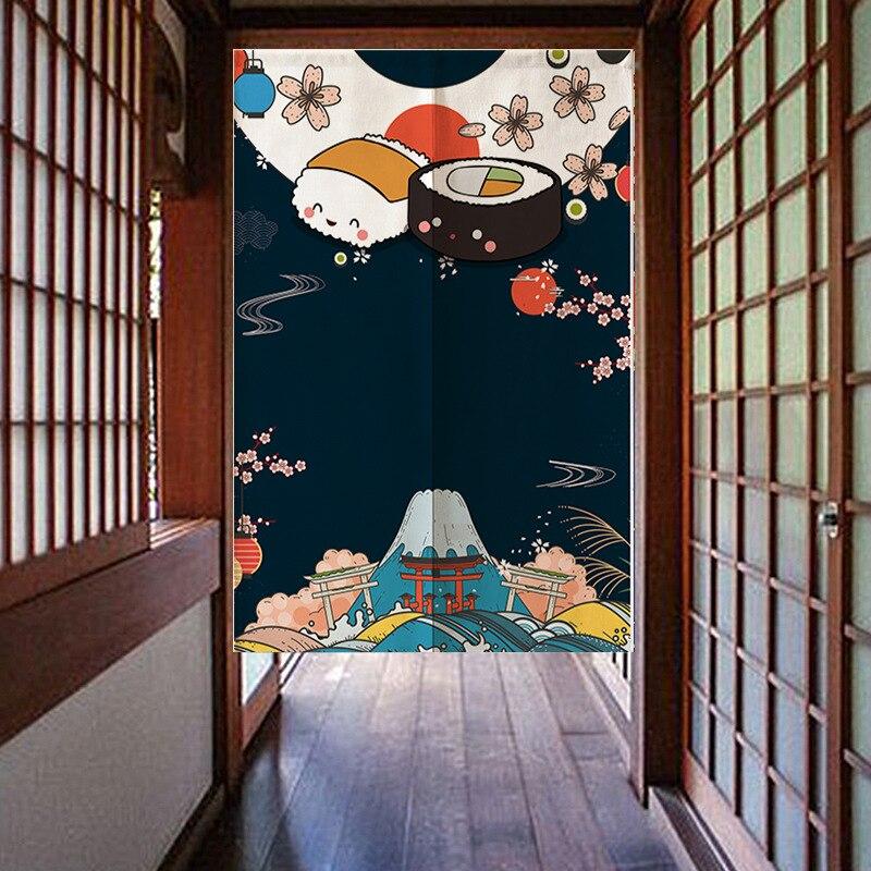النمط الياباني الباب قماش ستارة المنزل الفن الديكور مطعم التقسيم الستار المغناطيسي شفط ستارة الباب المطبخ جميل