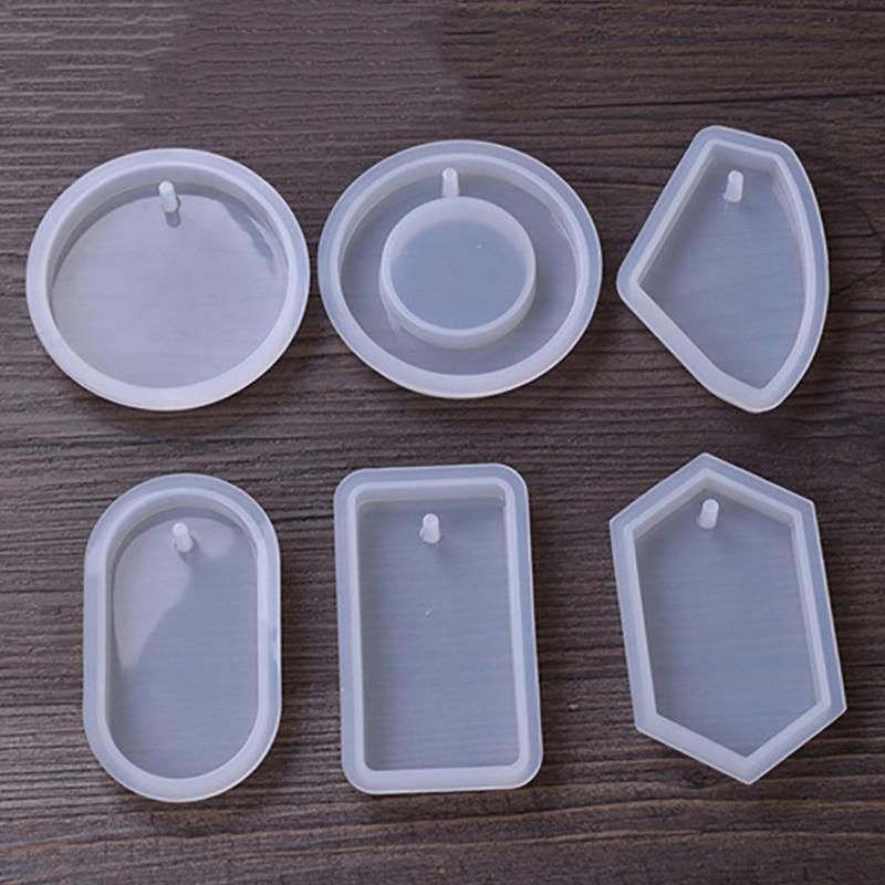 1pc circular artesanato diy resina uv transparente cola epoxy silicone combinação moldes para diy fazendo encontrar acessórios jóias