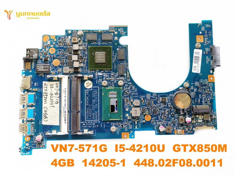 الأصلي لشركة أيسر VN7-571G اللوحة المحمول VN7-571G I5-4210U GTX850M 4GB 14205-1 448.02F08.0011 اختبار جيد شحن مجاني