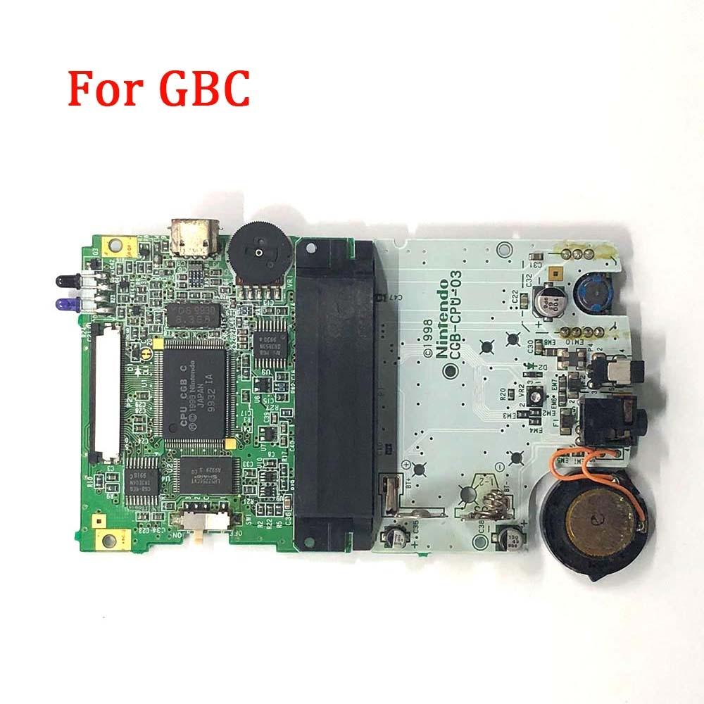 Yedek GBC anakart orijinal PCB devre modülü kurulu nintendo GBC konsolu arkadan aydınlatmalı ekran anakart aksesuarları