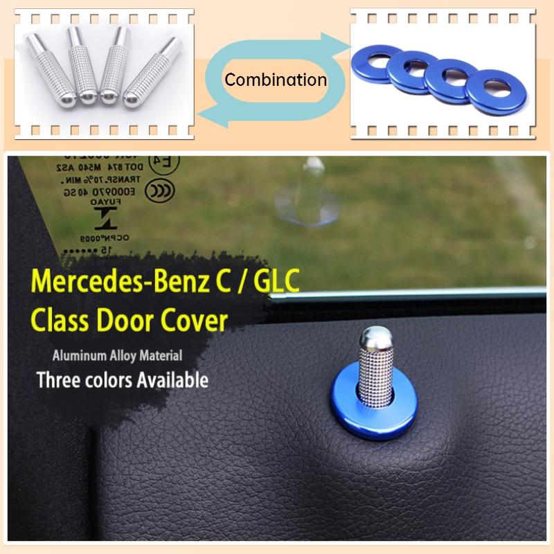 Cubierta de pasador de puerta de coche, embellecedor de decoración de acero inoxidable para Mercedes Benz W176 W213, accesorios GLA CLA GLK GLS A B Clase C117 X156