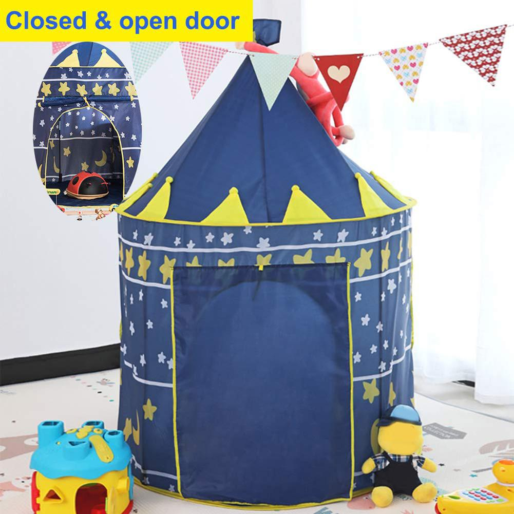 Kids Play Tent Portable Foldable Children Kids Game Play Tent house pretend toys Indoor Outdoor Yurt Castle Playhouse Toys toys tent for kids tunnel ball pool pits ocean series cartoon game portable foldable outdoor sports toys with basket children