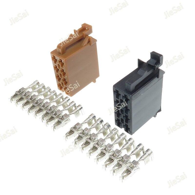 8 Pin 962189-1 962191-1 Car CD Plug Auto Radio Speaker Plug Audio ISO Cable Socket For VW