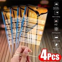 Protector de pantalla de cristal templado para Xiaomi Redmi Note 10, 8, 7, 6, 9s, 9 Pro, 9A, 8A, Poco M3, X3 Pro, F3, 4 Uds.