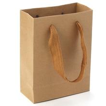 Kraft Papier Taschen 16*12cm Hochzeit Party Geschenk Taschen Rechteck Braun Ideal Für Nehmen Away Fast Food Und mehr Mit Hand seil, 2Pcs