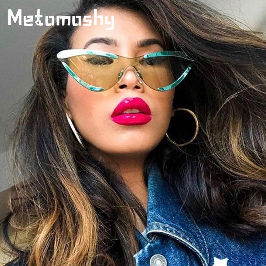 2019 novo gato olho óculos de sol das mulheres marca designer óculos moda retro senhoras óculos de sol vermelho claro lente uv400 oculos