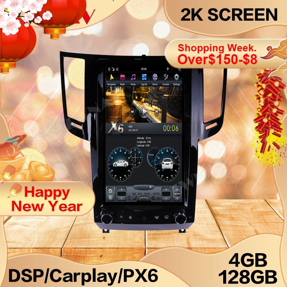 4 + 128G Tesla Bildschirm Für Infiniti FX50 2009-2010 2011 2012 2014 2014 2015 Android Multimedia GPS audio Recorder Radio Navi Stereo
