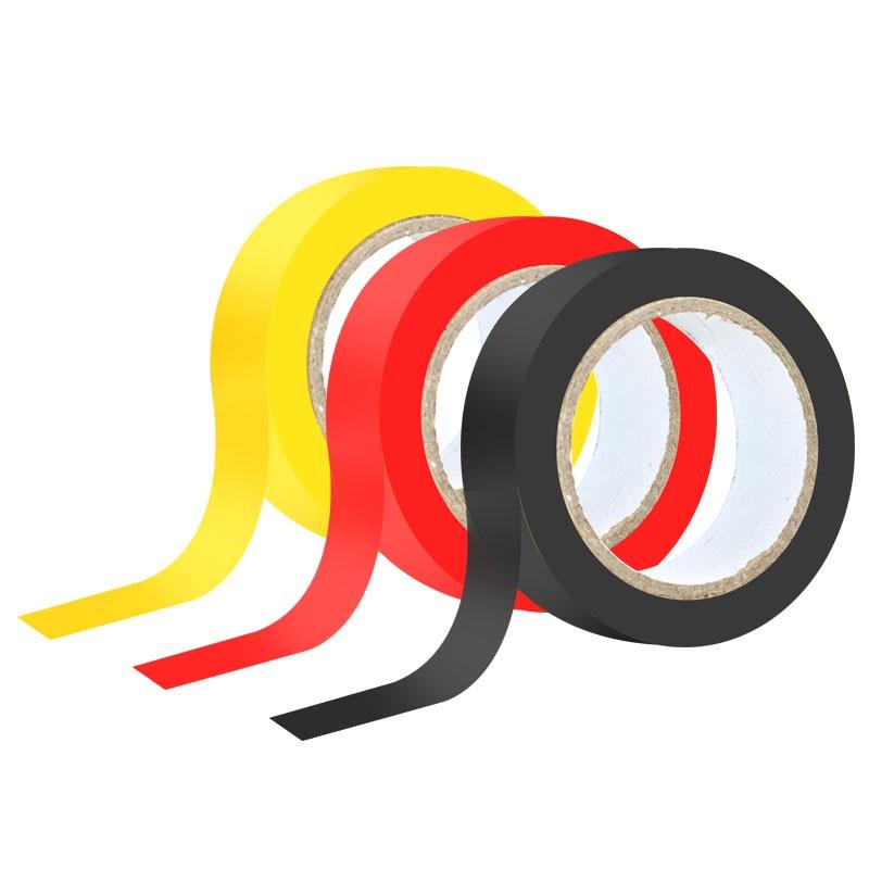 LAOA 3 قطعة الكهربائية لاصق الشريط 18 مللي متر * 9 متر الملونة عزل مثبطات لهب من البولي فينيل كلورايد الشريط الأسلاك الكهربائية العزل
