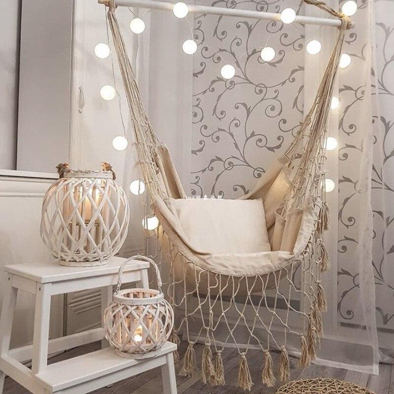 Kwastje Tuin Hangmat Stoel Deluxe Opknoping Hangmat Schommel Stoel Schommel Voor Out/Indoor Patio Porch Decor