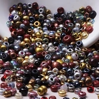 handmade diy jewelry making bracelet pendant necklace earrings accessories round glass seed beads