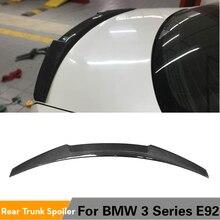 Para bmw e92 base coupe m tech m3 2006 - 2012 fibra de carbono tronco traseiro spoiler e92 m3 asa boot lábio
