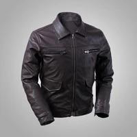 air force german hartmann aviator faux leather jacket turn down collar slim fit
