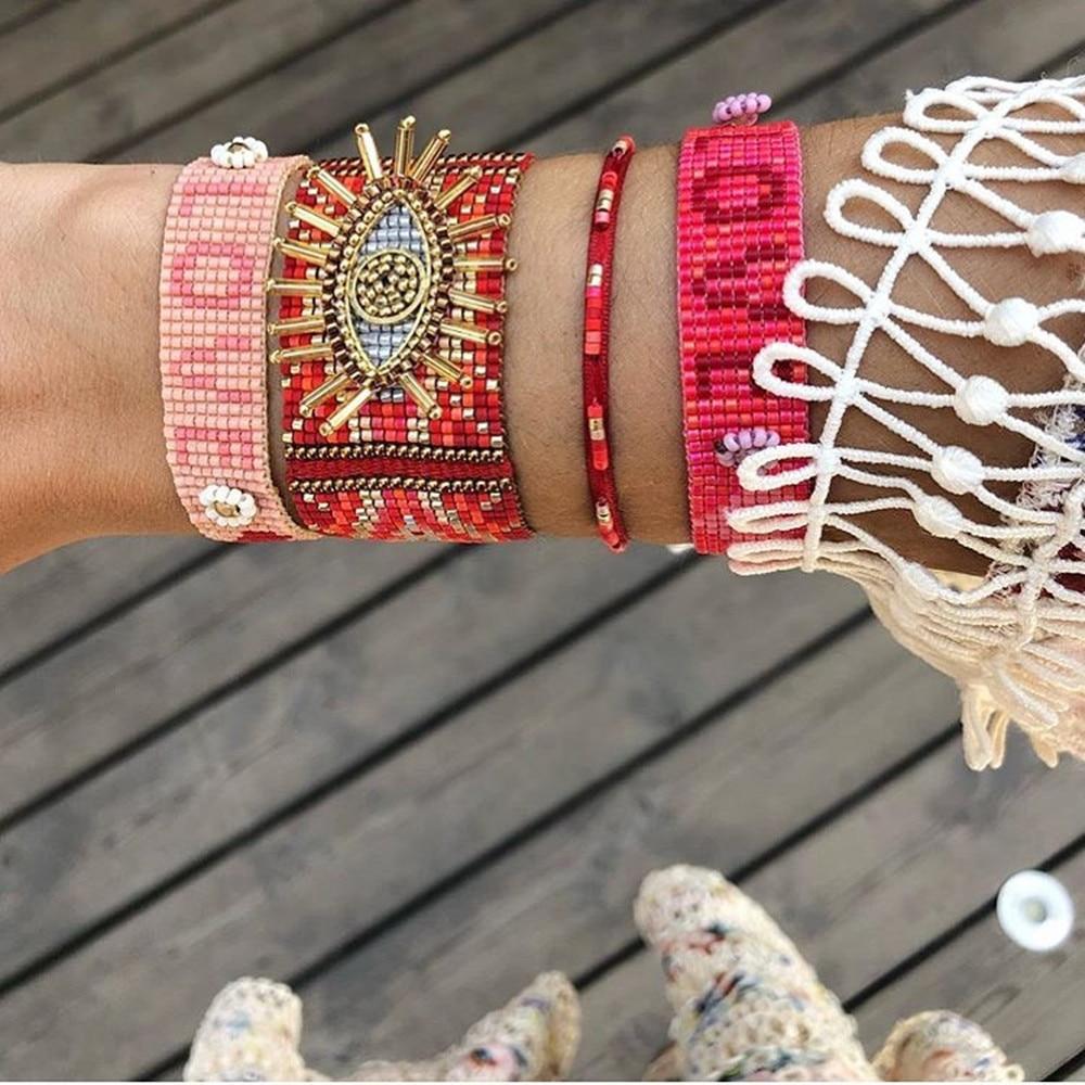 GRAPES Unique Bracelet For Women MIYUKI Evil Eye Bracelets 2020 Pulseras Mujer Moda Lucky 3D Eye Mexico Jewellry Gifts Wholesale