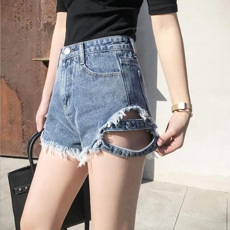 Pantalones vaqueros para mujer, pantalones cortos de verano para mujer, ropa para mujer, cremallera media ajustada, ropa Sexy para mujer h44