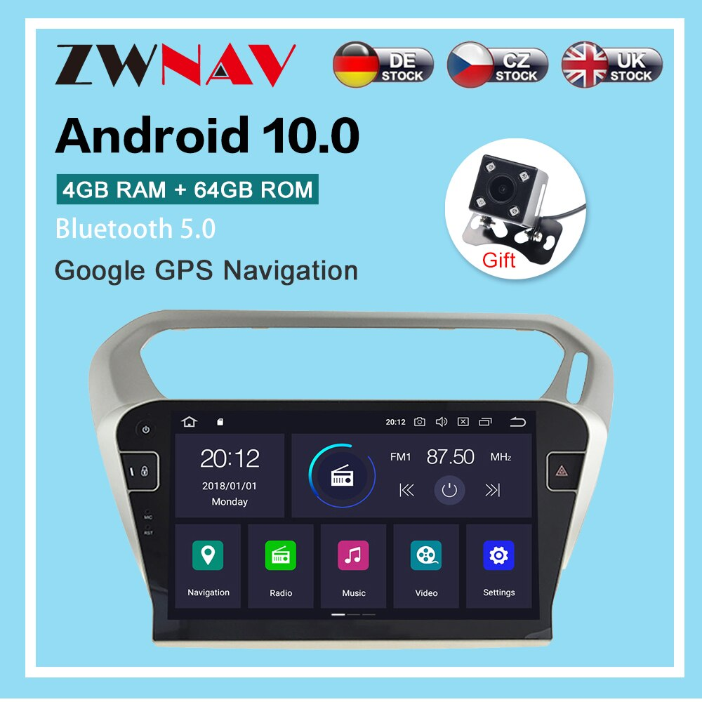 AliExpress - Android 10.0 4+64G Car Radio GPS Navigation for Peugeot 301 2013-2016 Multimedia Player Radio video stereo player head unit dsp