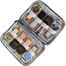 Waterproof Portable 8 Grids Watch Box Watch Case Holder Organizer Storage for Men Women smart watches box Quartz Watches case
