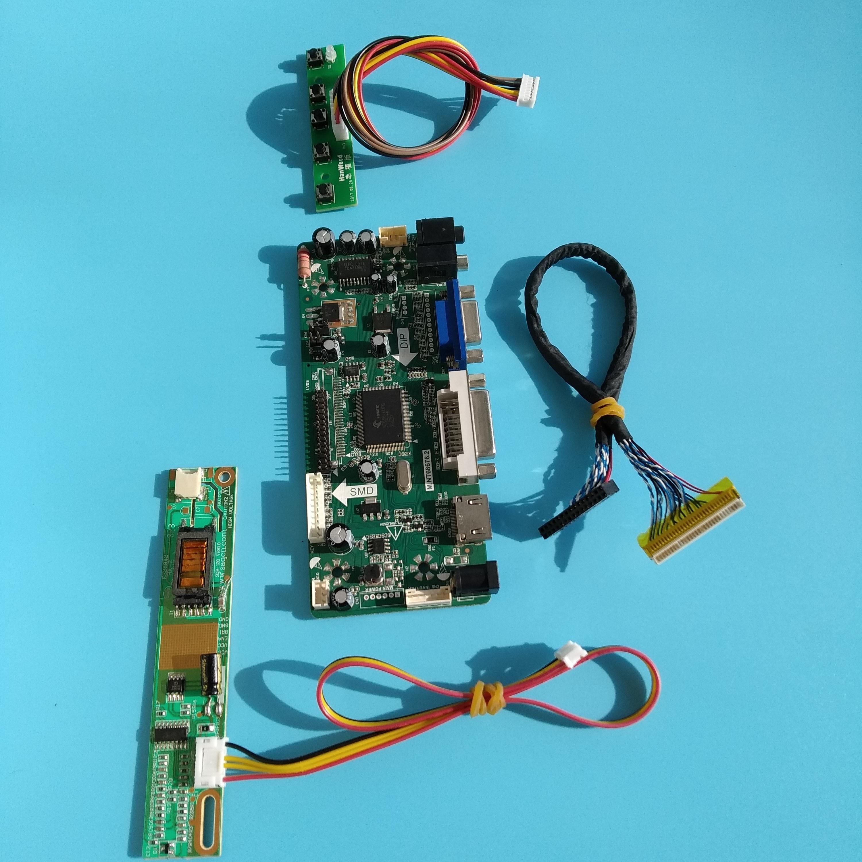"kit for LTN156AT01 display LCD HDMI 1366X768 Screen DVI VGA Panel LED 15.6"" Controller board 30pin LVDS M.NT68676 1 lamps"