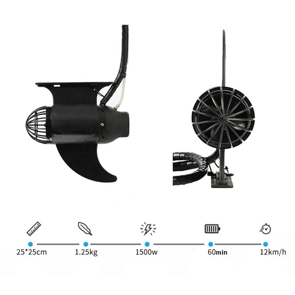 Aletas de tabla de surf eléctrica SUP Power 24V, Motor de arrastre Efin eléctrico SUP y aleta de empuje de alta potencia