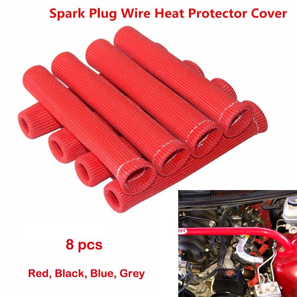 8 шт. номер красный 1200 градусов провод к свече зажигания сапоги тепловой щит протектор рукав SBC BBC 350 454 для Ford для Chevy для GMC