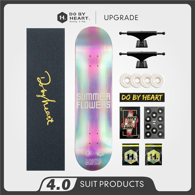 Skateboard Beginner Youth Adult Male and Female Four-Wheel Twin Tips Assembly Skateboard Skateboard Laser Style