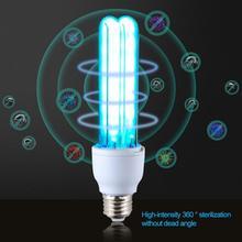 UV quartz lamp Ultraviolet light 26W E27 Tube Bulb UVC Germicidal lamp disinfect bacterial kill mite Deodorizer home