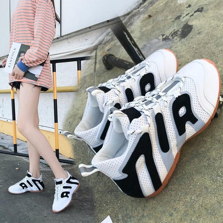 أحذية رياضية بيضاء للنساء ، نسخة كورية جديدة ، أحذية عصرية