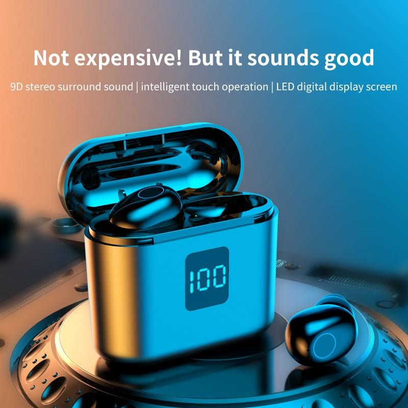 TWS Bluetooth Earphones Wireless Stereo Headphones Touch Control Sport Earbuds Headsets With Microph