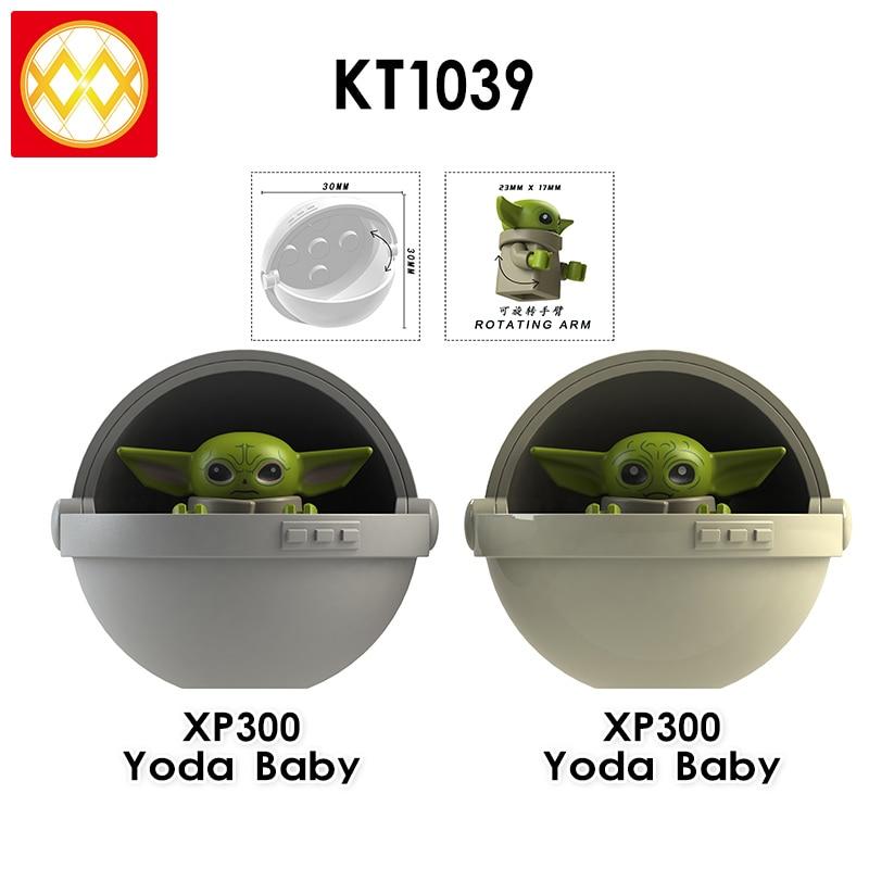 2020 New XP300 Baby Rotating Arm Mandalorian Rey Kylo WM916-A Building Blocks child Toy gift XH1533