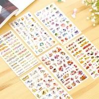 12pcs colorful life series cartoon stickers diy diary phone album kids gift decorative sticker stationery school supplies h6956