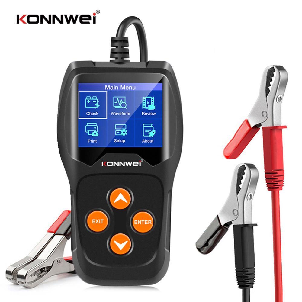 KONNWEI KW600 Car Voltage Test Tool 12V 100-2000 CCA Professional Automotive Alternator Digital Analyzer Battery Load Tester