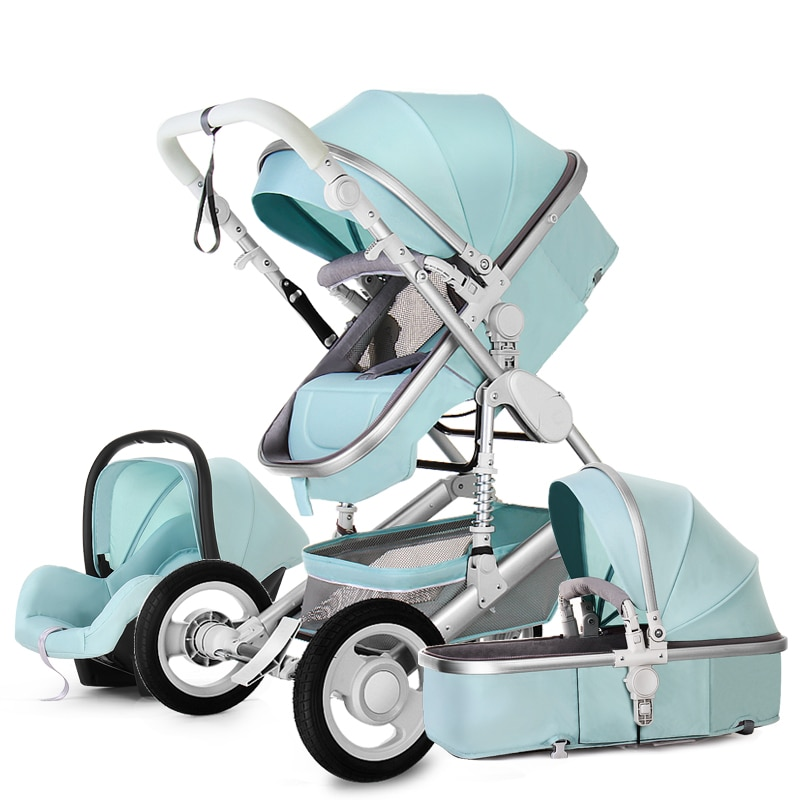 2021 High Landscape Baby Stroller 3 in 1 With Car Seat Luxury Travel Pram Newborn Car seat and Stroller Baby Carriage 7 Gifts