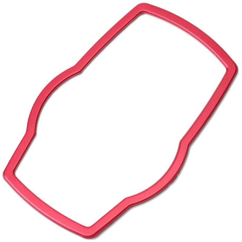 Coche rojo Interior Botón Multimedia protectores de decoración de embellecedor para BMw E81 E87 F30 F31 F34 F32 F10 F11