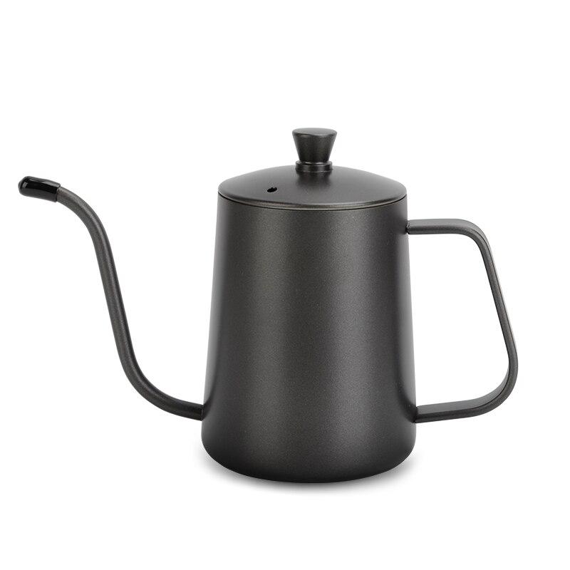رقيقة الفم إبريق قهوة Gooseneck بالتنقيط الفولاذ المقاوم للصدأ اليد لكمة طويلة صنبور إبريق قهوة معلقة الأذن بولي دي مقهى القهوة DG50CP