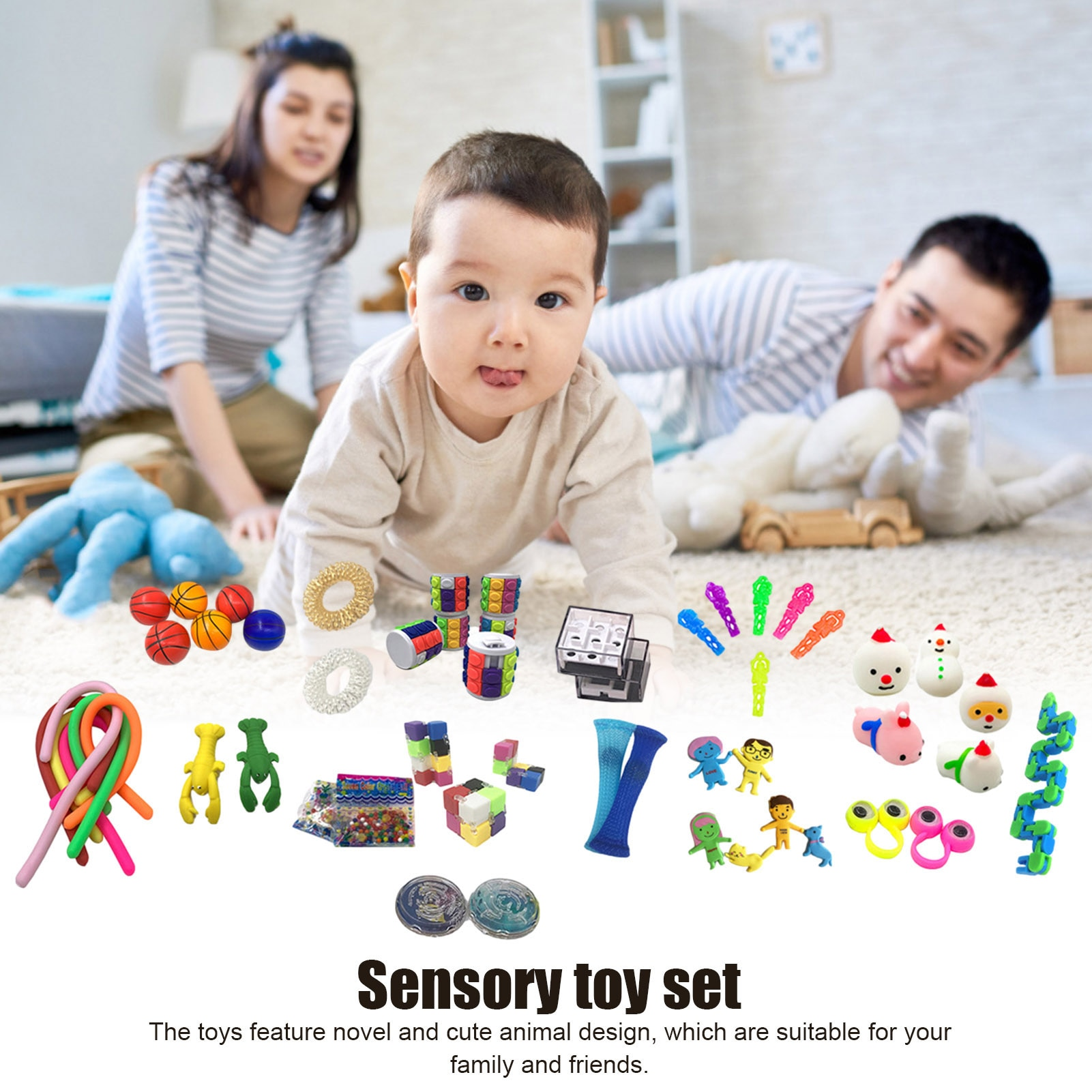 10/50Pcs Pack Sensory Fidget Toy Set Stress Relief Toys Autism Anxiety Relief Stress Pop Bubble Fidget Toys For Kids Adults DH enlarge