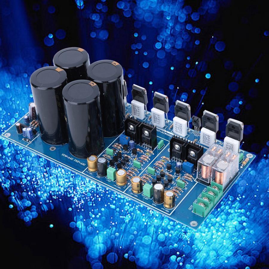 Placa de amplificador de Audio NJW0281 A4 totalmente simétrica doble placa de amplificador de potencia diferencial alta potencia 300W + 300W