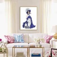 5D bricolage complet rond forage diamant peinture robe dame mosaique Kit strass dessin photo decor a la maison suspendus Art artisanat
