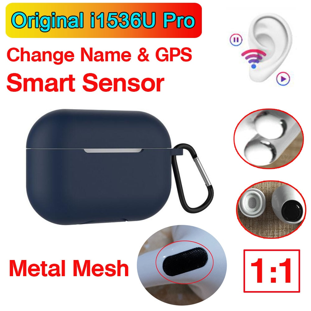 I1536U Pro Tws 1:1 Air3 nombre GPS inalámbrico auriculares Bluetooth Smart Sensor Supergraves PK H1 chip i90000 i200000 Pro Max TWS