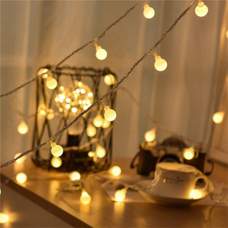 usb battery powered led heart shaped fairy string lights garland light christmas holiday valentine wedding party decoration lamp USB/Battery Power LED Ball Garland Lights Fairy String Waterproof Outdoor Lamp Christmas Holiday Wedding Party Lights Decoration
