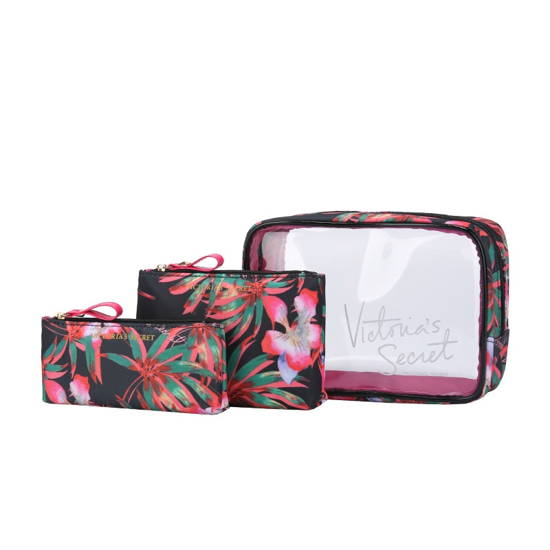 Women Travel Toiletry Bags For Waterproof Zipper Large Capacity Multifunction 3Pcs Travel Transparent Storage Pouch Makeup Bag