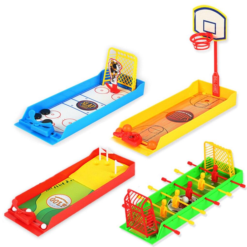 Mini fútbol, Hockey, Golf, juego de disparos, juguetes para los dedos, divertido, de escritorio, de baloncesto, concurso de eyección ensamblado
