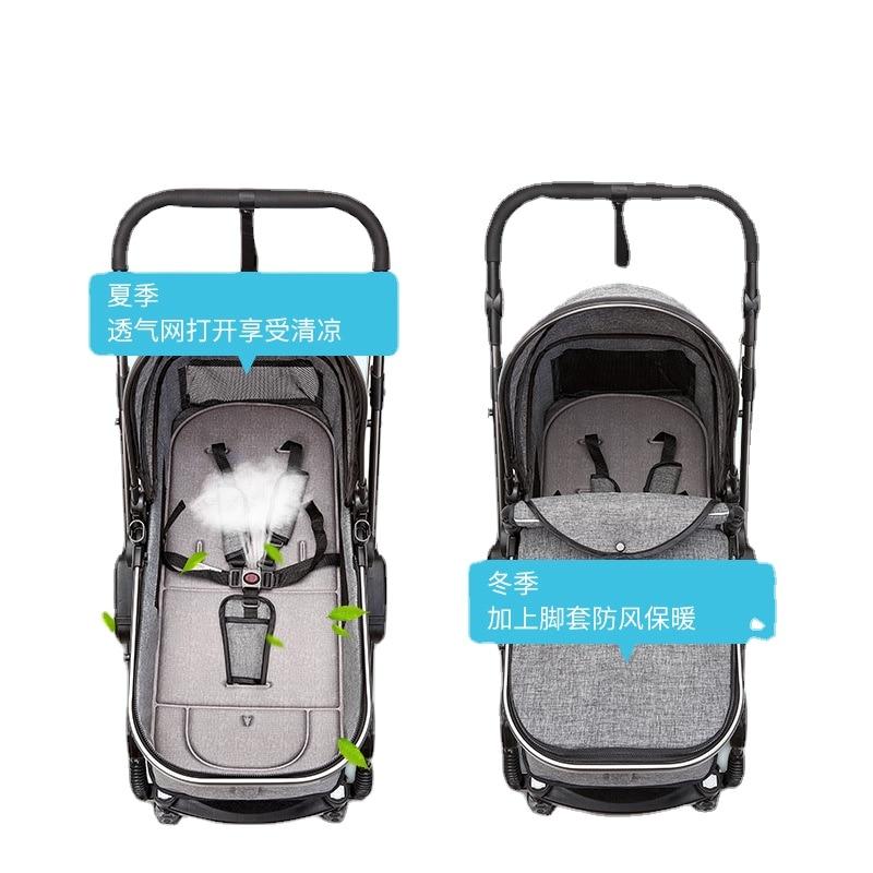 Baby Stroller with Car Seat Multifunctional High View Convertible Handle Shockproof Folding Baby Pram Newborn Stroller 2 In 1 enlarge