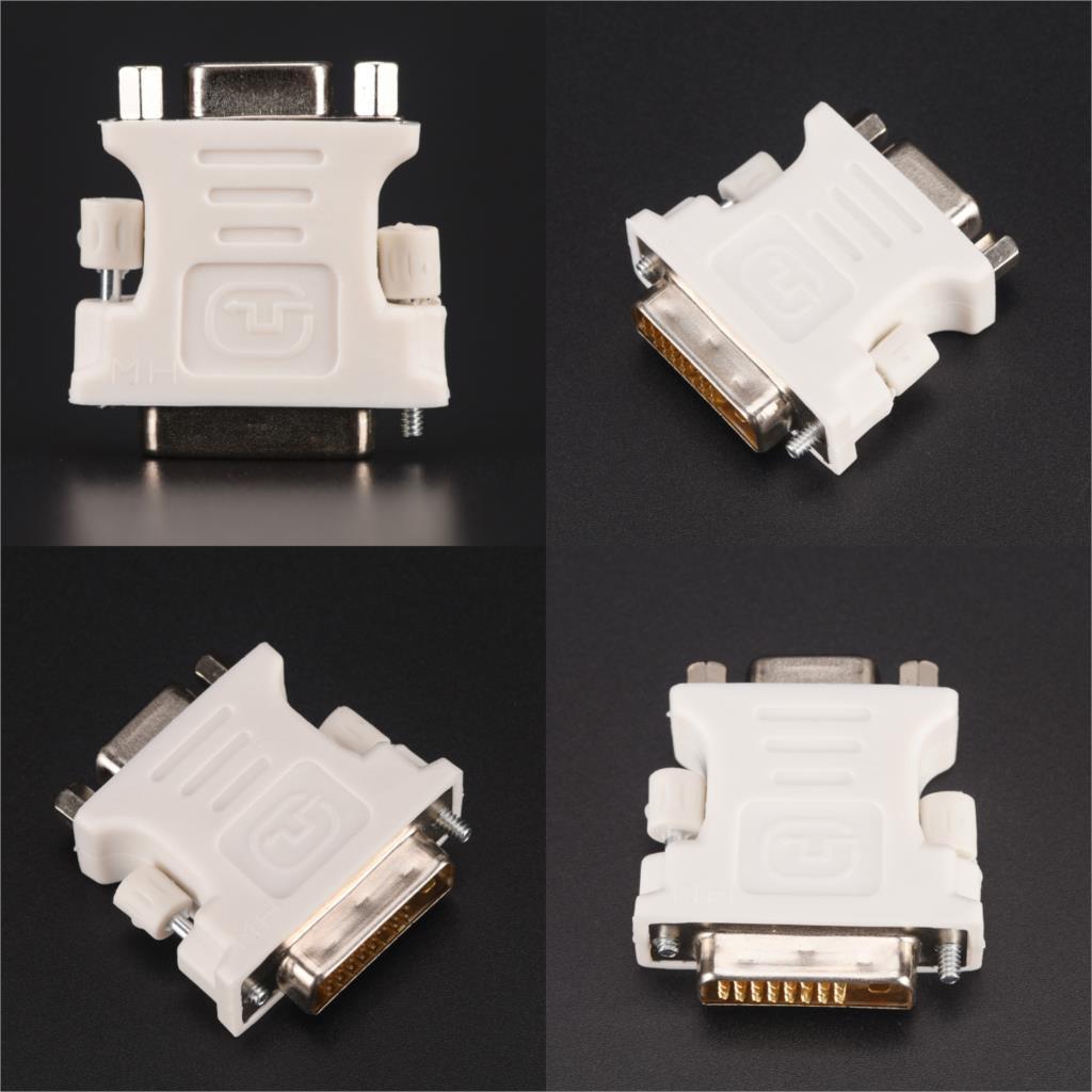 Adaptador de DVI-D-D-M a VGA-F de 24 + 1 Pines, adaptador de...