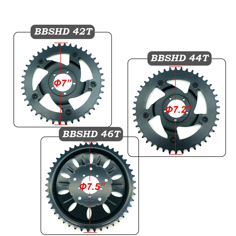 Bafang BBSHD/BBS03 42T 44T 46T Kette Rad Ersatz Kette Wache Fahrrad 8fun Mitte Mitte Antrieb motor Kits